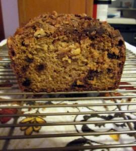 Sour Cream-Raisin Bread Sliced Open
